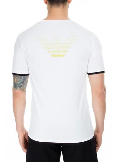 EA7 Emporio Armani  Regular Fit T Shirt Erkek T Shırt S 6Gpt02 Pj03Z 1100 Beyaz